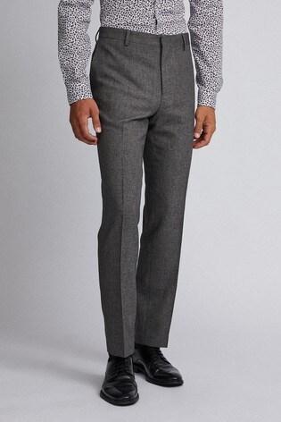 Burton Slim Textured Suit Trousers