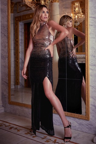 best cheap online shop incredible prices Buy Abbey Clancy x Lipsy Ombre All Over Sequin Maxi Dress from ...