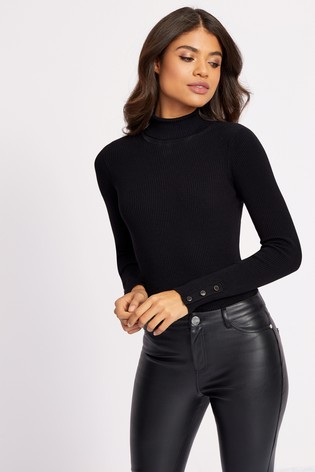 Lipsy Black Roll Neck Jumper
