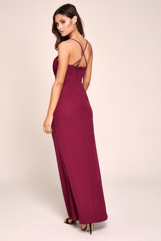 Lipsy Pleat Detail Cami Maxi Dress