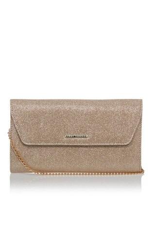 Lipsy Gold Envelope Clutch Bag