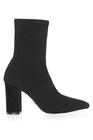 Lipsy Block Heel Knitted Sock Boots