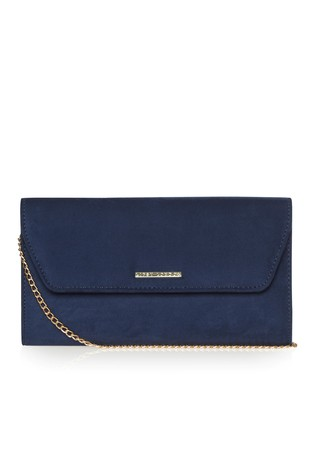 Lipsy Blue Envelope Clutch Bag