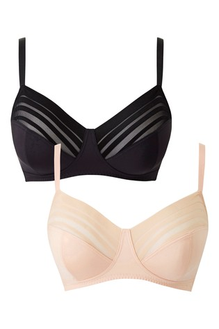 Simply Be Non-Wired Bra - Pack Of 2 DD+