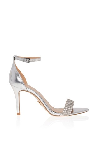 Lipsy Wide Fit Diamanté Heeled Sandal