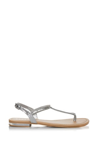 Lipsy Wide Fit Diamanté Flat Sandal