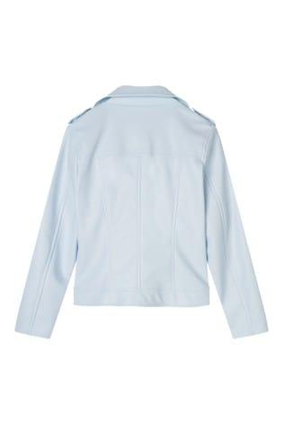 Lipsy Girl Blue PU Biker Jacket