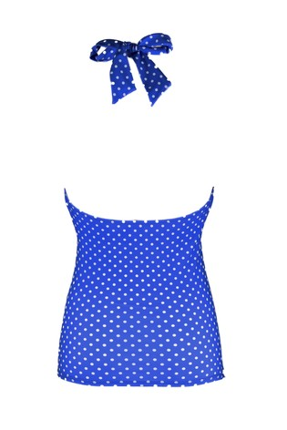 Pour Moi Blue Hot Spots Underwired Tankini Top
