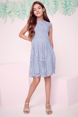 Lipsy Girl Blue VIP Lace Dress