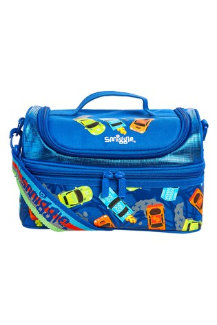 Smiggle Blue Whirl Junior Double Decker Lunchbox