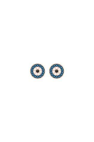 Swarovski®  Luckily Evil Eye Pierced Earrings