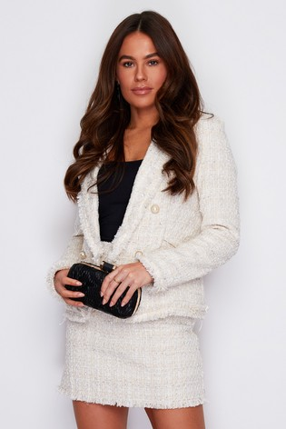Girl In Mind Tweed Cropped Jacket