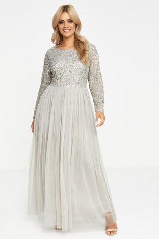 Maya Curve Sequin Maxi Dress