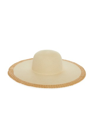 Lipsy Natural Straw Floppy Hat