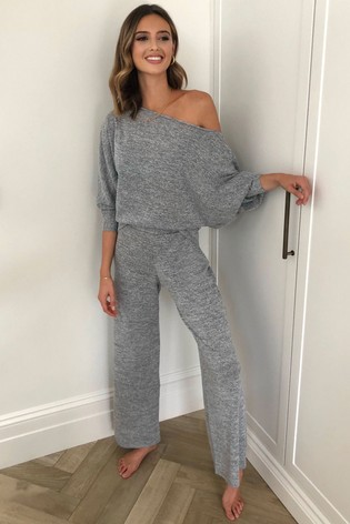 Lipsy Grey Slash Neck Top