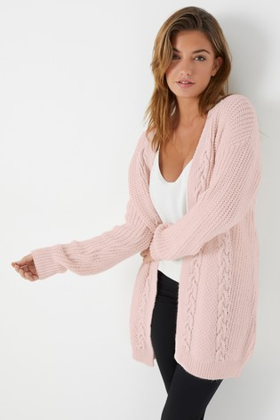 Lipsy Pink Cable Cardigan