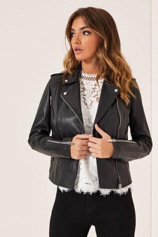 Lipsy Premium Leather Biker