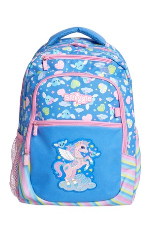 Smiggle Cornflower Blue Deja Vu Backpack