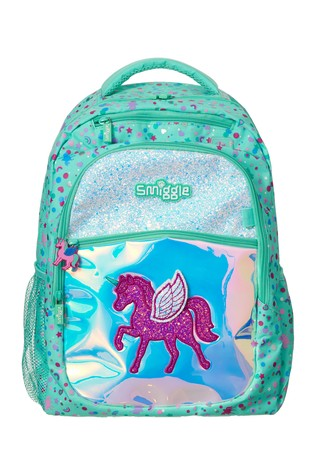 Smiggle Mint Believe Backpack with Unicorn