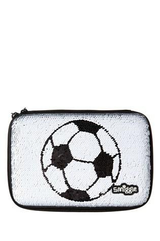 Smiggle Goal Hardtop Football Print Pencil Case