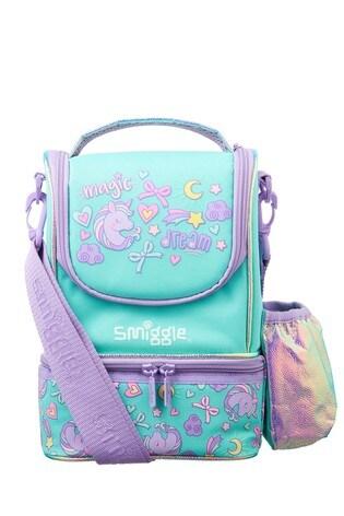 Smiggle Teal Wander Junior Strap Lunchbox