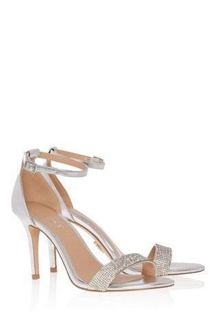 Lipsy Wide Fit Diamanté Heeled Sandal