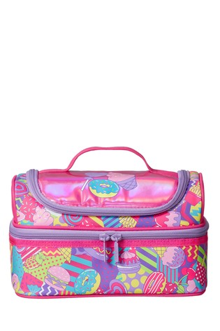 Smiggle Pink Far Away Double Decker Lunchbox