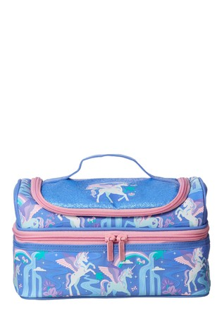 Smiggle Blue Far Away Double Decker Lunchbox