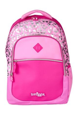 Smiggle Magenta Block Backpack