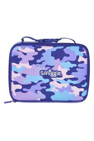 Smiggle Purple Block Square Lunchbox
