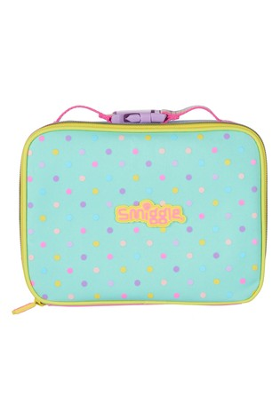 Smiggle Pink Block Square Lunchbox