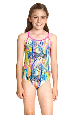 Zoggs Tropix Bella Crossback Swimsuit
