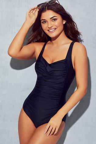 Pour Moi Twisted Front Control Swimsuit