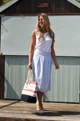 Brakeburn Broderie Anglaise Skirt