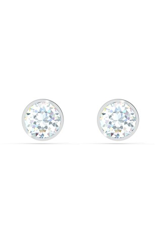 Swarovski Silver Tennis Stud Earrings