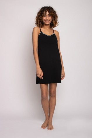 Pretty You London Black Bamboo Chemise