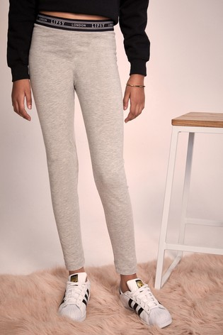 Lipsy Girl Grey Branded Waistband Legging