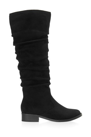 Lipsy Ruched Flat Knee Boot