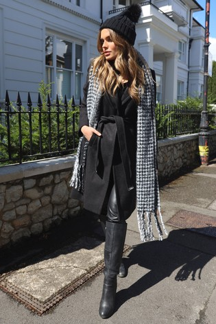 Lipsy Reversible Dogtooth Scarf