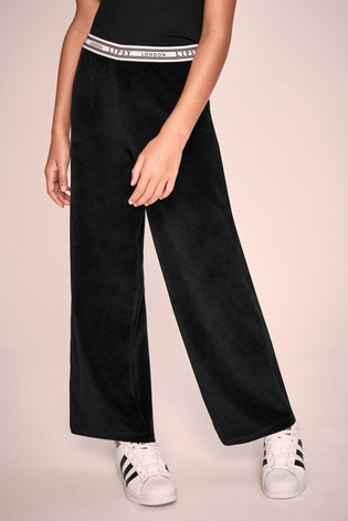 Lipsy Girl Wide Leg Velour Jogger