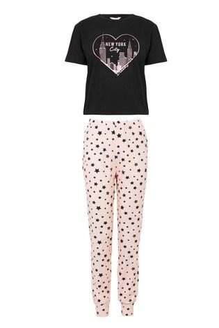 Lipsy New York City Regular Short Sleeve PJ Set