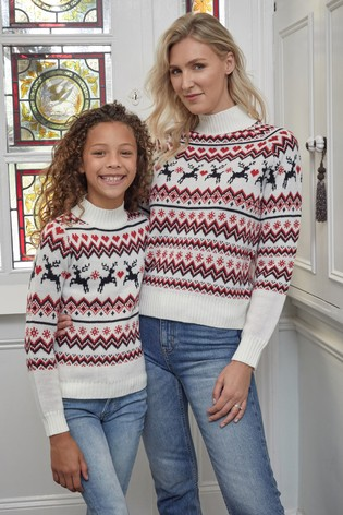 Buy Fashion Union Girls High Neck Christmas Jumper From The Next Uk Online Shop