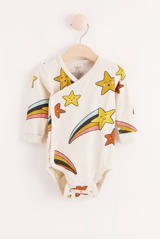 Lindex Baby Shooting Star Wrap-Over Bodysuit