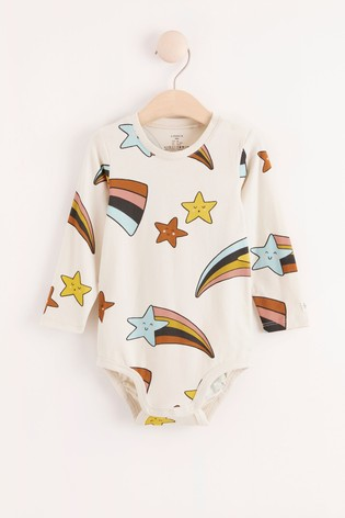 Lindex Baby Shooting Star Long Sleeved Bodysuit