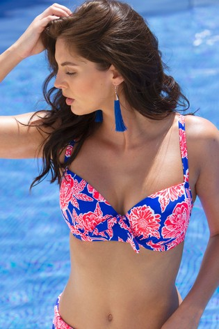 Pour Moi Pink Heatwave Padded Underwired Top E+