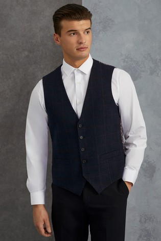 Skopes Tweed Check Waistcoat