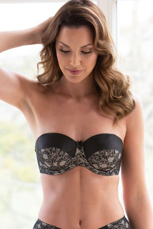 Charnos Superfit Lace Padded Strapless Bra GG+
