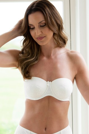 Charnos Superfit Lace Padded Strapless Bra