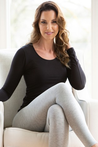 Charnos Black Second Skin Thermal Long Sleeve Top