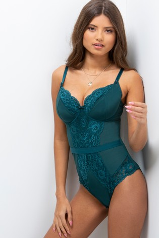 Pour Moi Green Opulence Underwired Body